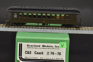 HOn3 Brass - OMI 3177 Colorado & Southern Coach #75 - Great Custom