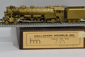 HO Brass - Hallmark Models Wabash 2800 M-1 4-8-2 Steam Locomotive
