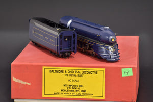 "HO Brass - MTS Baltimore & Ohio P-7a 4-6-2 ""The Royal Blue"" Used"