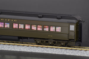 HO Brass - Northern Pacific Coach #612 with LED lighting and FULL Interior