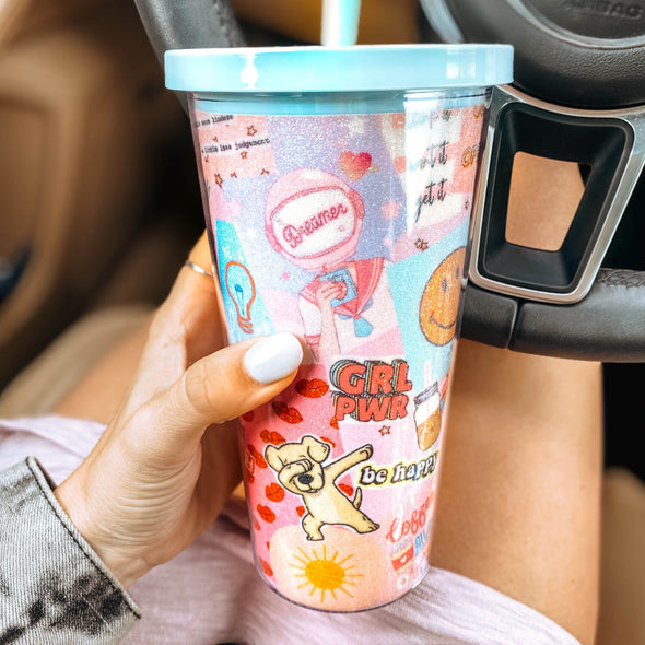 Boss Girl Collage Tumbler