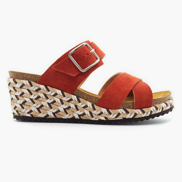 Trendy Comfort Sandal for Women: Bali Muscat Suede