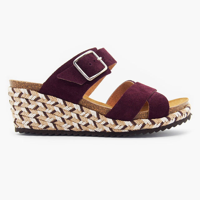 Trendy Comfort Sandal for Women: Bali Wine Suede