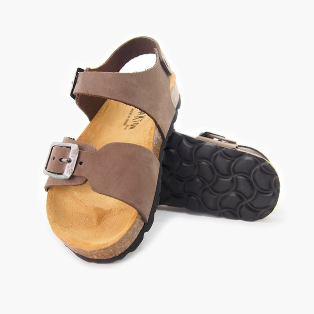 Comfort Sandal for Kids: Capri Coffee Nubuck
