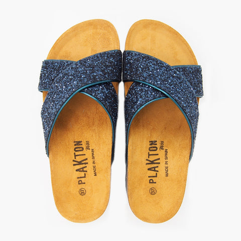 Hawaii Navy Glitter