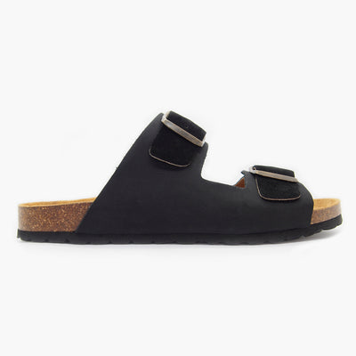 Formentera Black Leather-Suede