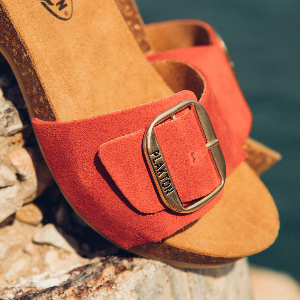 Helena Red Suede