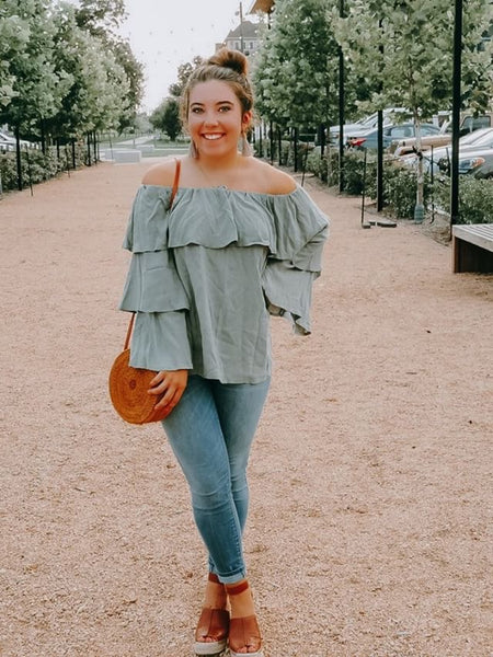 Green Off The Shoulder