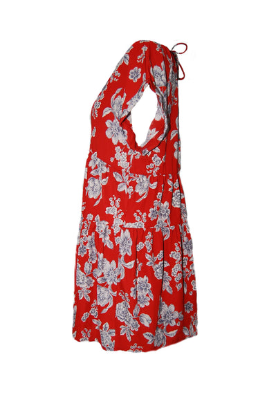 Red Floral Dress - Eclectic Blue