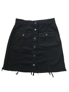 Black A Line Skirt - Eclectic Blue