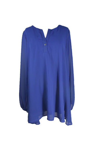 Cobalt Long Sleeve Blouse - Eclectic Blue