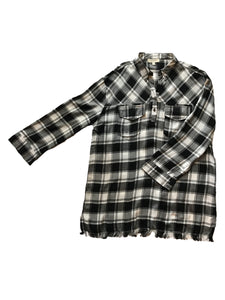 Plus Size Plaid Tunic - Eclectic Blue