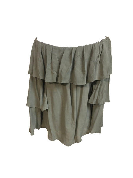 Green Off The Shoulder - Eclectic Blue