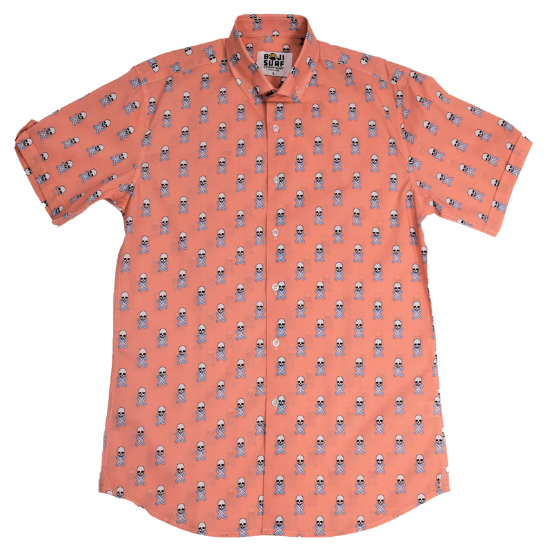 BOJI SURF SKULL BUTTON DOWN