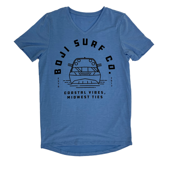 WOMENS DISTRESSED RETRO V-NECK TEE - BOJI SURF CO.™️