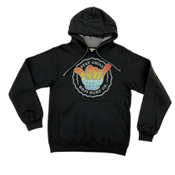 STAY CHILL HOODIE (BLACK)