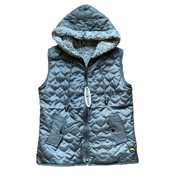 REVERSIBLE SHERPA HOODED VEST