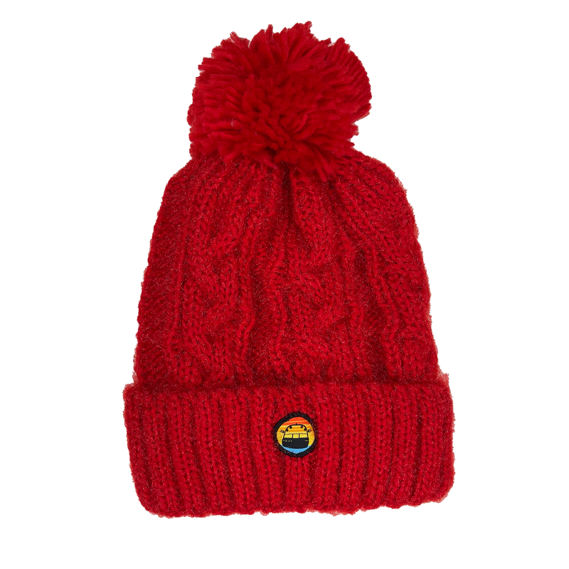 WOMENS SOLID KNITTED BEANIE