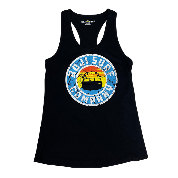WOMENS DISTRESSED CIRCLE LOGO TANK