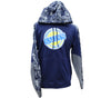 Kalin's Navy Freeze Colorblock Hooded Sweatshirt