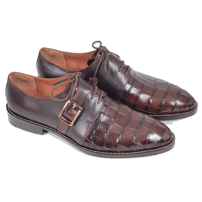 Greer Anderad Men's Leather Single Monk Strap GYW Shoes Brown GA-04-20
