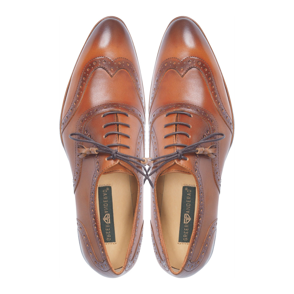 Men's Leather Oxford Lace-up Shoes GA-04-02 Tan