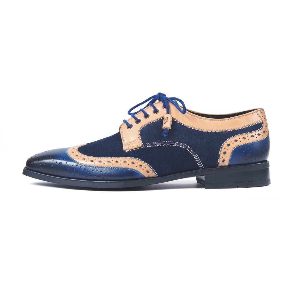 Greer Anderad Men's Leather Suede Lace-up Derby Shoes Blue GA-02-19 - Greer & Anderad