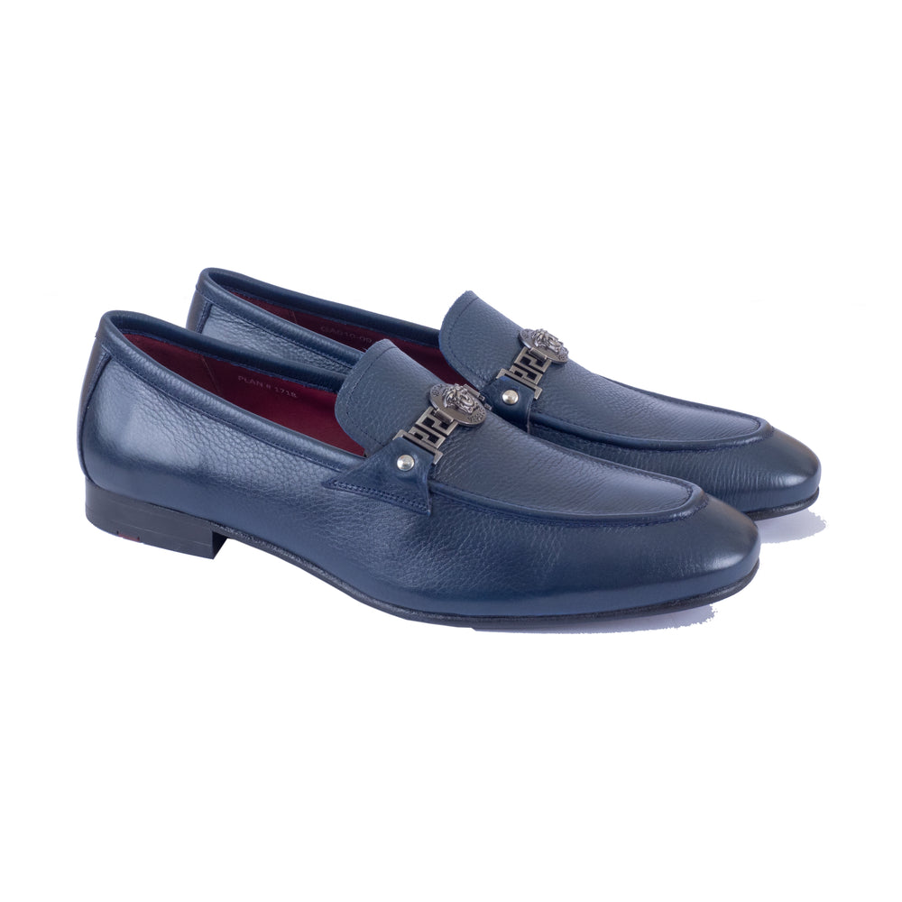 Greer Anderad Men's Leather Loafer Shoes Blue GA-10-09 - Greer & Anderad