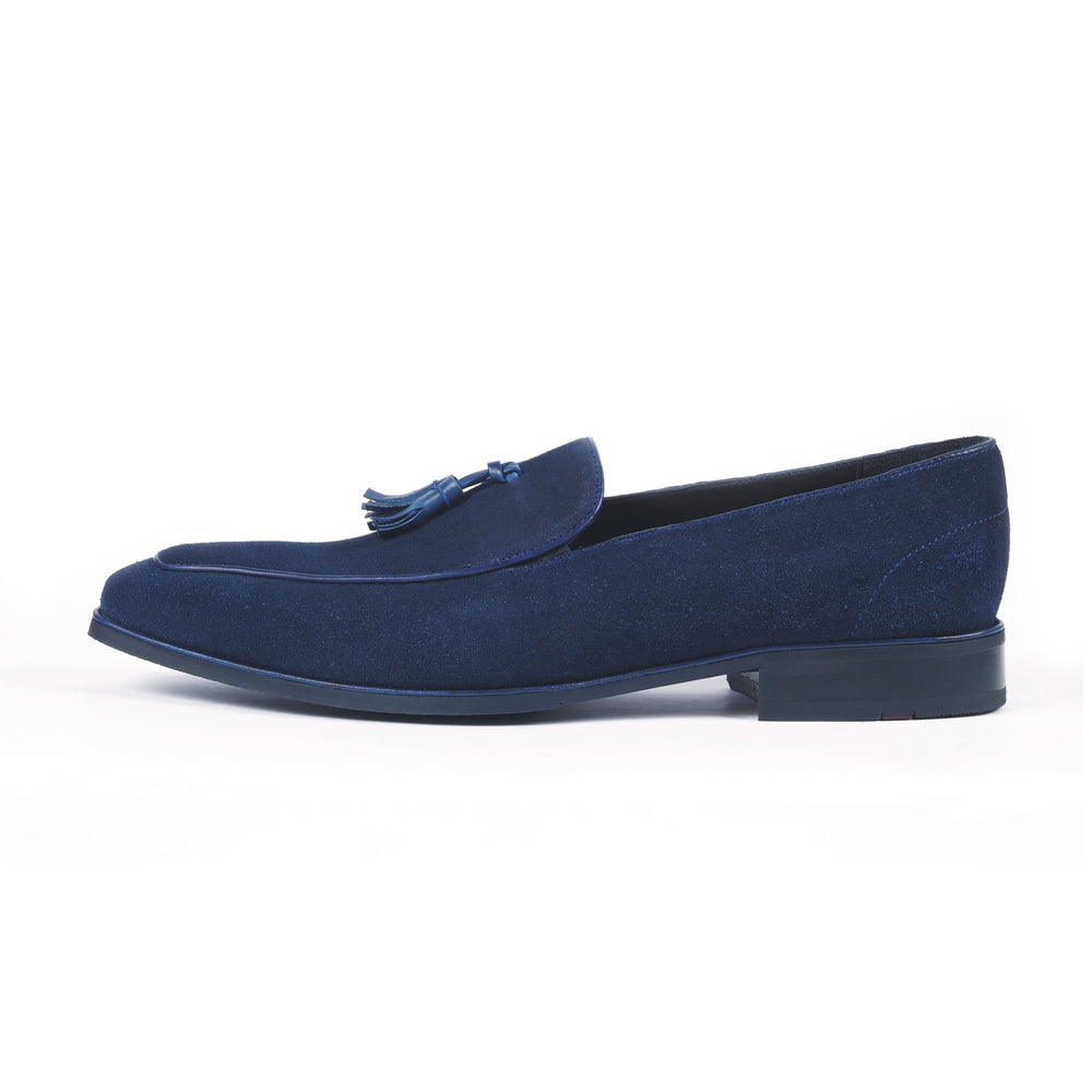 Greer Anderad Men's Leather Suede Loafer Shoes Blue GA-02-16A - Greer & Anderad
