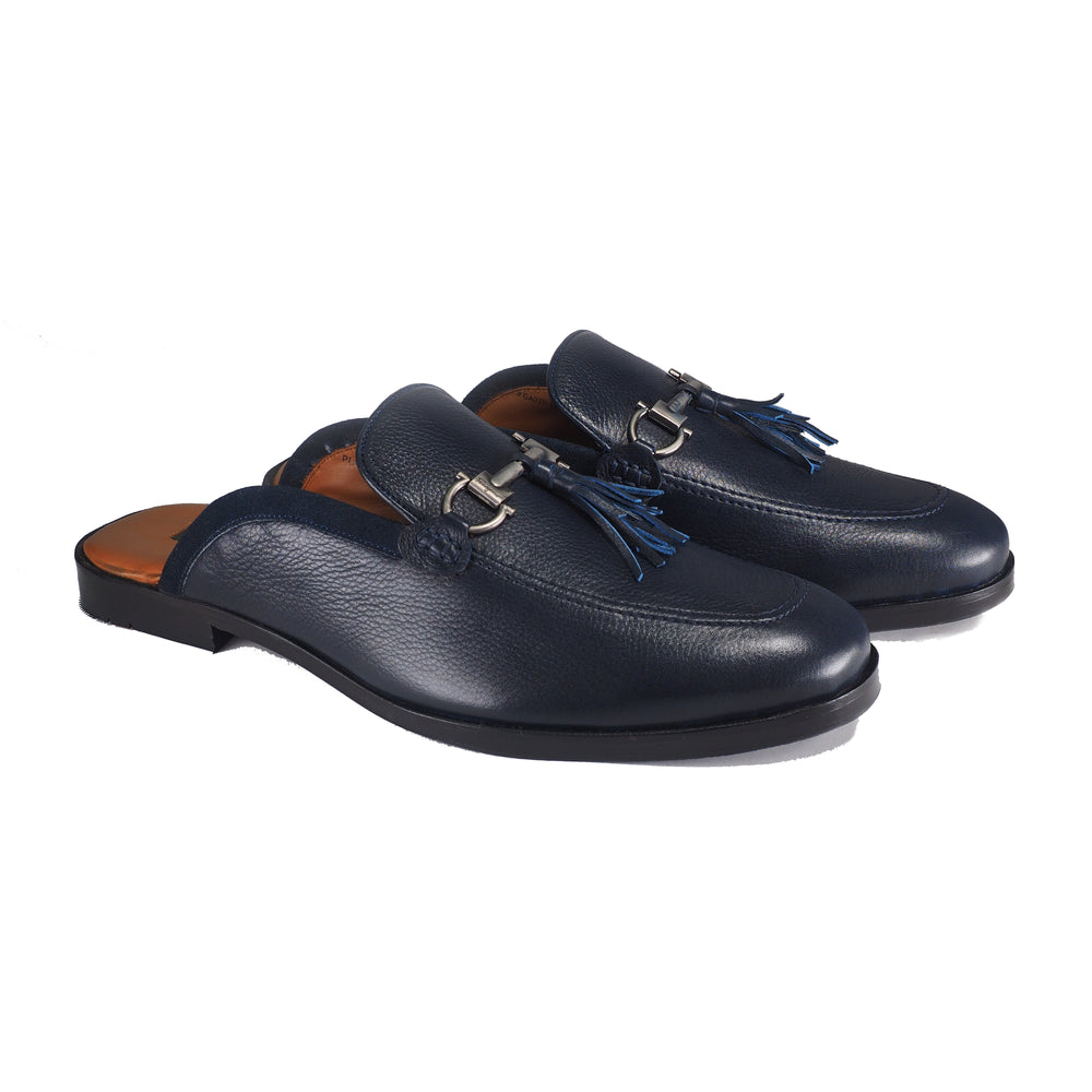 Greer Anderad Men's Leather Slippers Shoes Blue GA-10-12 - Greer & Anderad