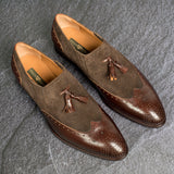 Greer Anderad Men's Leather Loafer Shoes Brown GA-04-03 - Greer & Anderad
