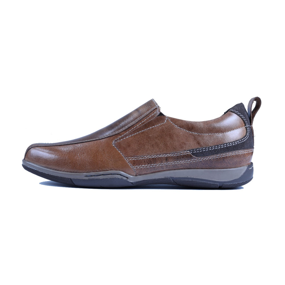 Greer Anderad Men's Leather Casual / Comfort Slip-on Shoes Tan GA-06-06 - Greer & Anderad
