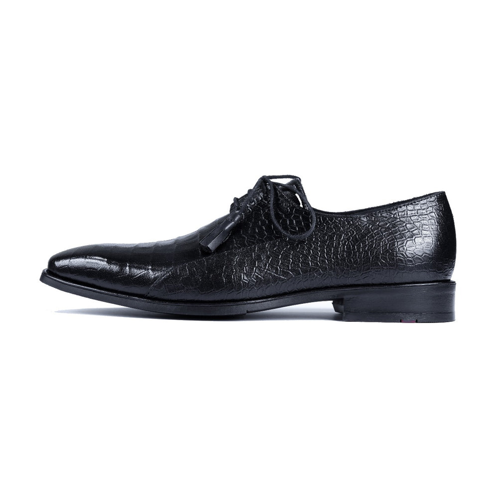 Greer Anderad Men's Leather Lace-up Derby Shoes Black GA-02-18 - Greer & Anderad