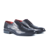 Greer Anderad Men's Leather Lace-up Oxford Shoes Black GA-03-19 - Greer & Anderad