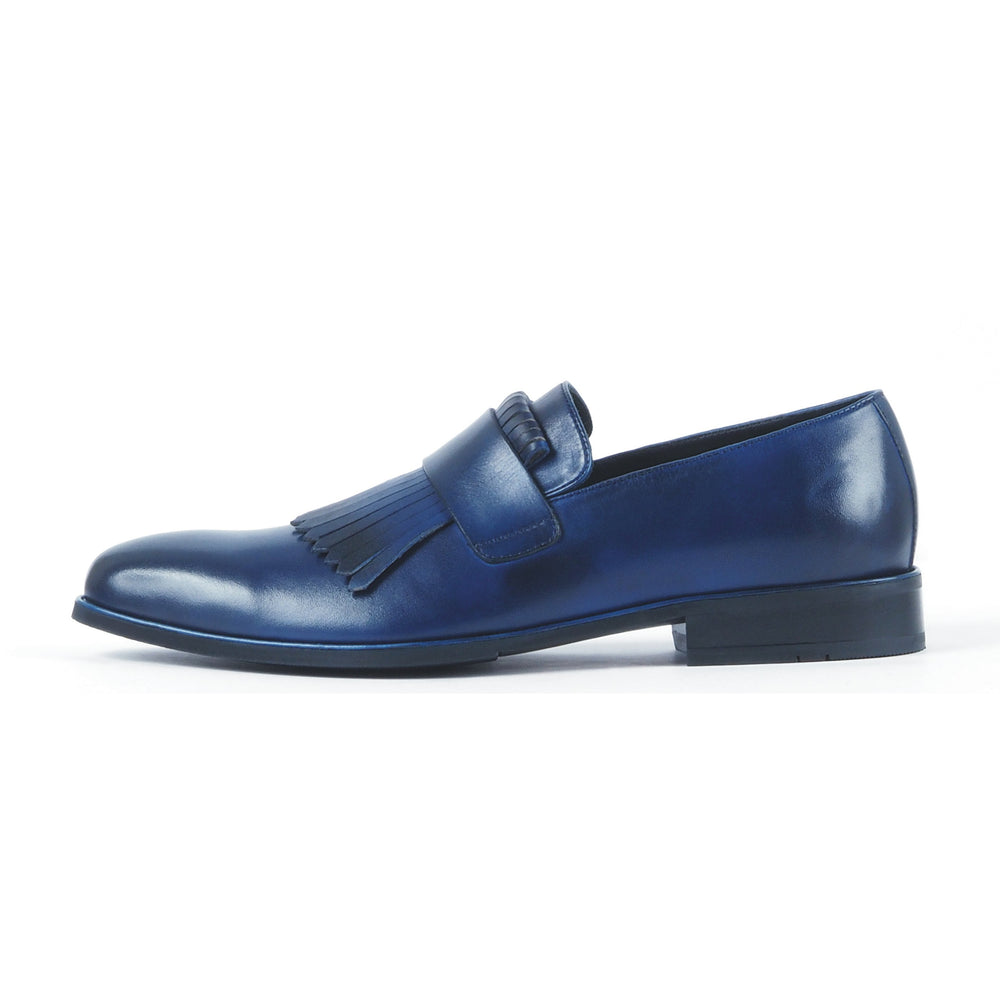 Greer Anderad Men's Leather Loafer Shoes Blue GA-03-02 - Greer & Anderad