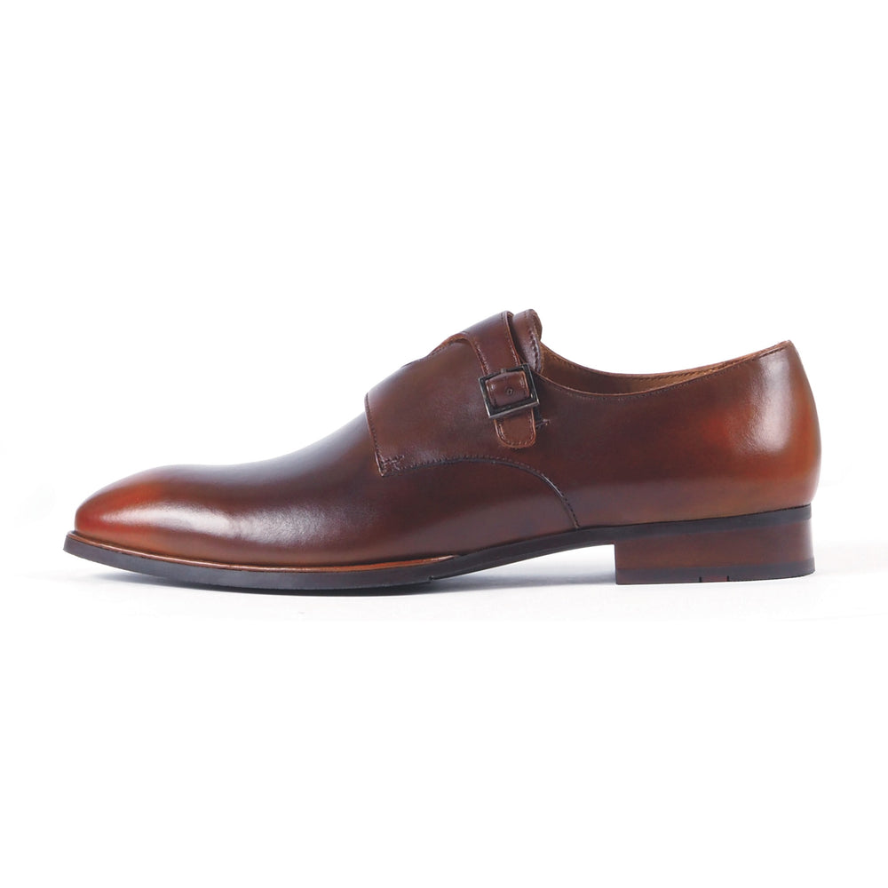 Greer Anderad Men's Leather Double Monk-Strap Shoes Tan Brown GA-04-10 - Greer & Anderad