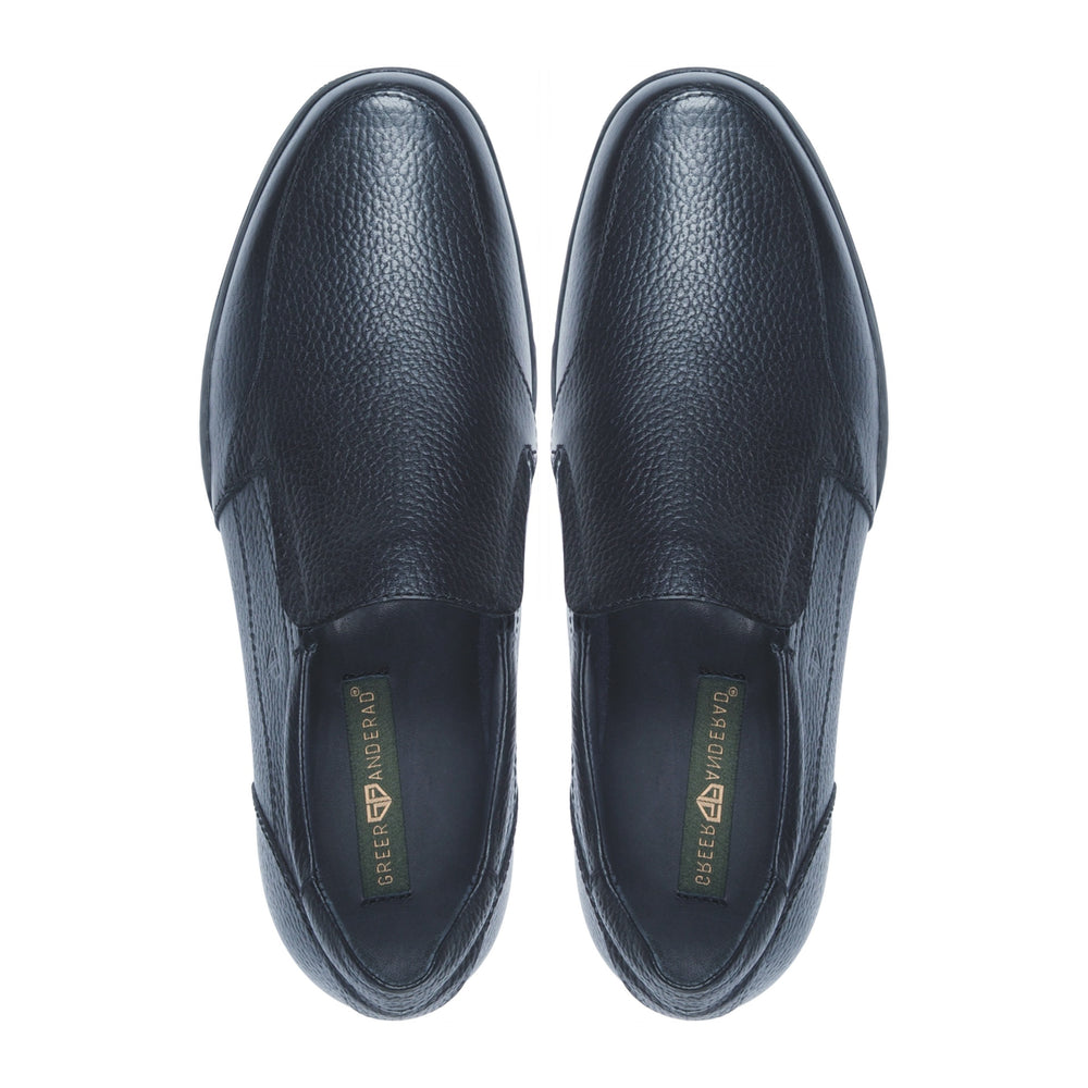Greer Anderad Men's Leather Casual / Comfort Slip-on Shoes Black GA-06-01 - Greer & Anderad