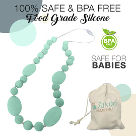 JUNGO BAMBINO Silicon Teething Necklace - All Mint