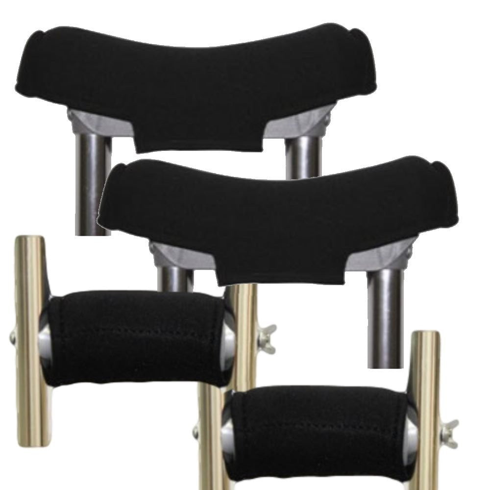 Premium Soft Gel Crutch Top Covers and Gel Hand Grips (Full Set) - Softens the Pain of Using Crutches
