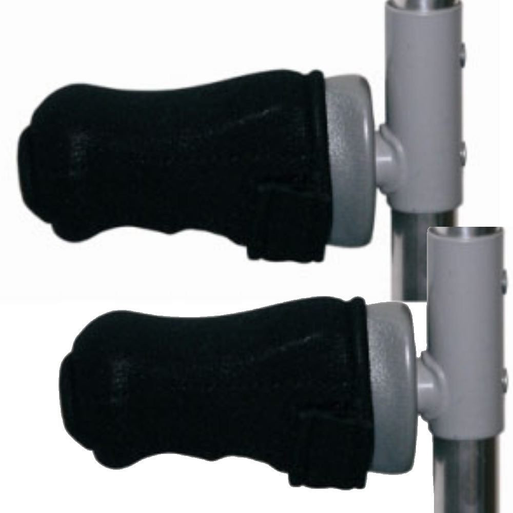 Premium Gel Forearm Crutch Zipper Covers (Pair) - Softens the Pain of Crutches