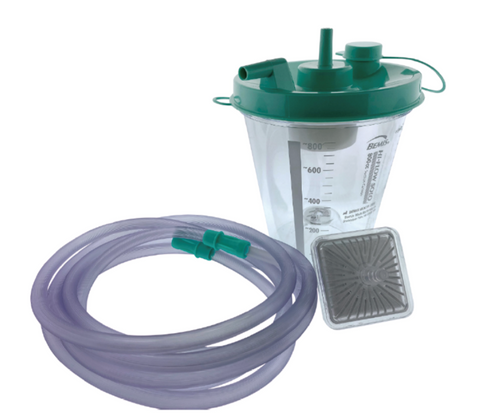 CleanTract™, ENT Disposable Suction Pump Kit, consisting of Air Filter Pump, Suction Tubing 10ft, and Fluid canister 1200CC, 5/box