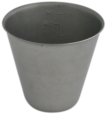 Medicine Cup, graduated, Stainless Steel, 2 oz