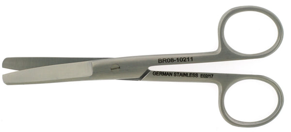 "OR Scissors, straight, blunt/blunt (Sizes 4-1/8"", 4½"", 5"", 5½"", 6"", 6½"", 7¼"")"
