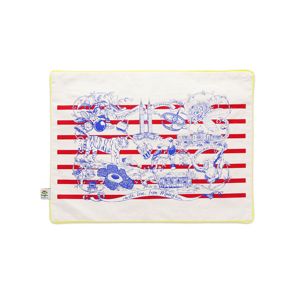 Malaysia Day Cushion Cover (red stripe)