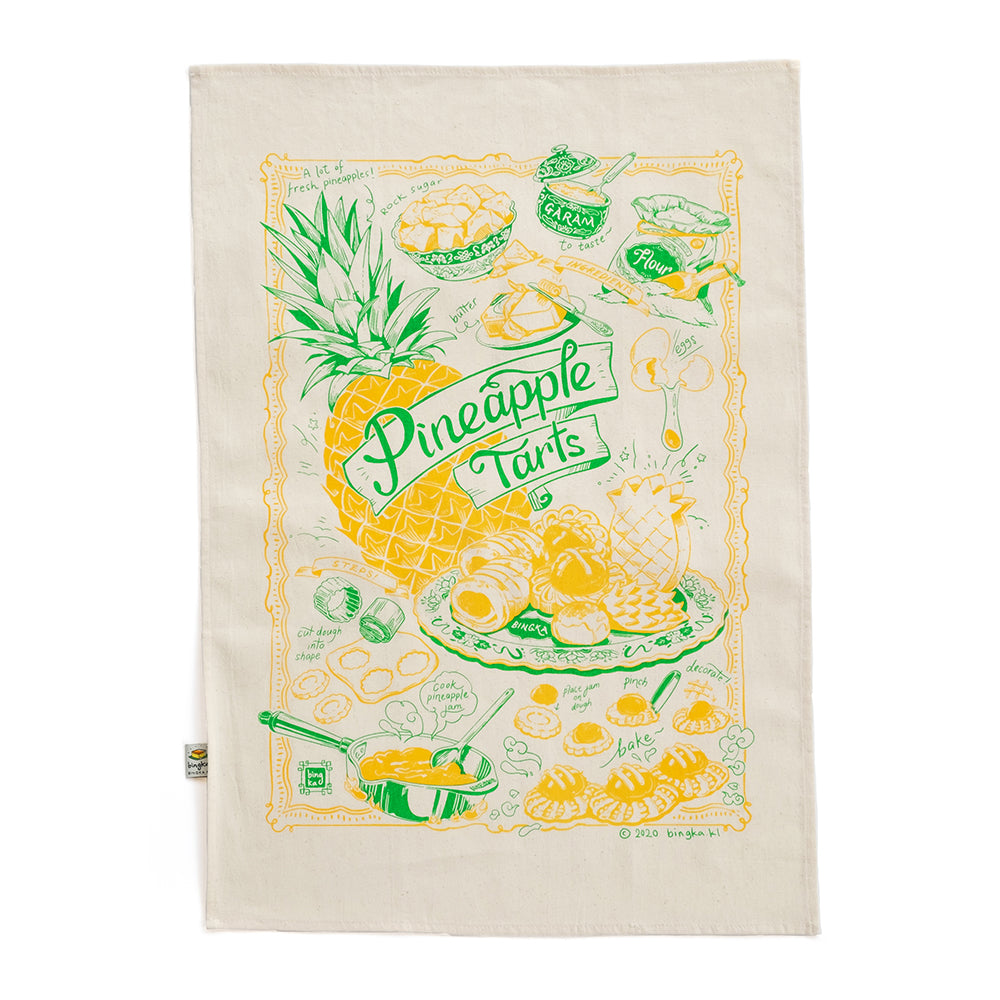 Pineapple Tart Tea Towel