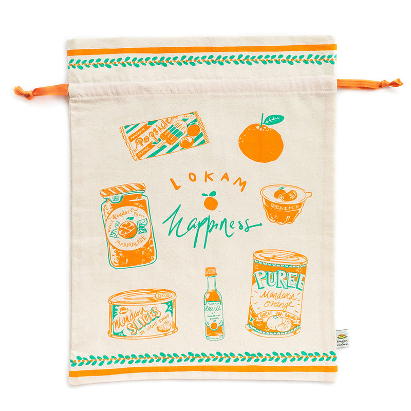 Lokam Happiness Drawstring Gift Bag