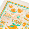 Lokam Mandarin Orange Tea Towel