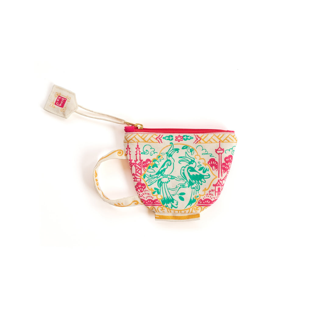 Hornbill Tea Cup Coin Pouch (KL Edition)