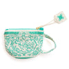 Teal Tea Cup Coin Pouch