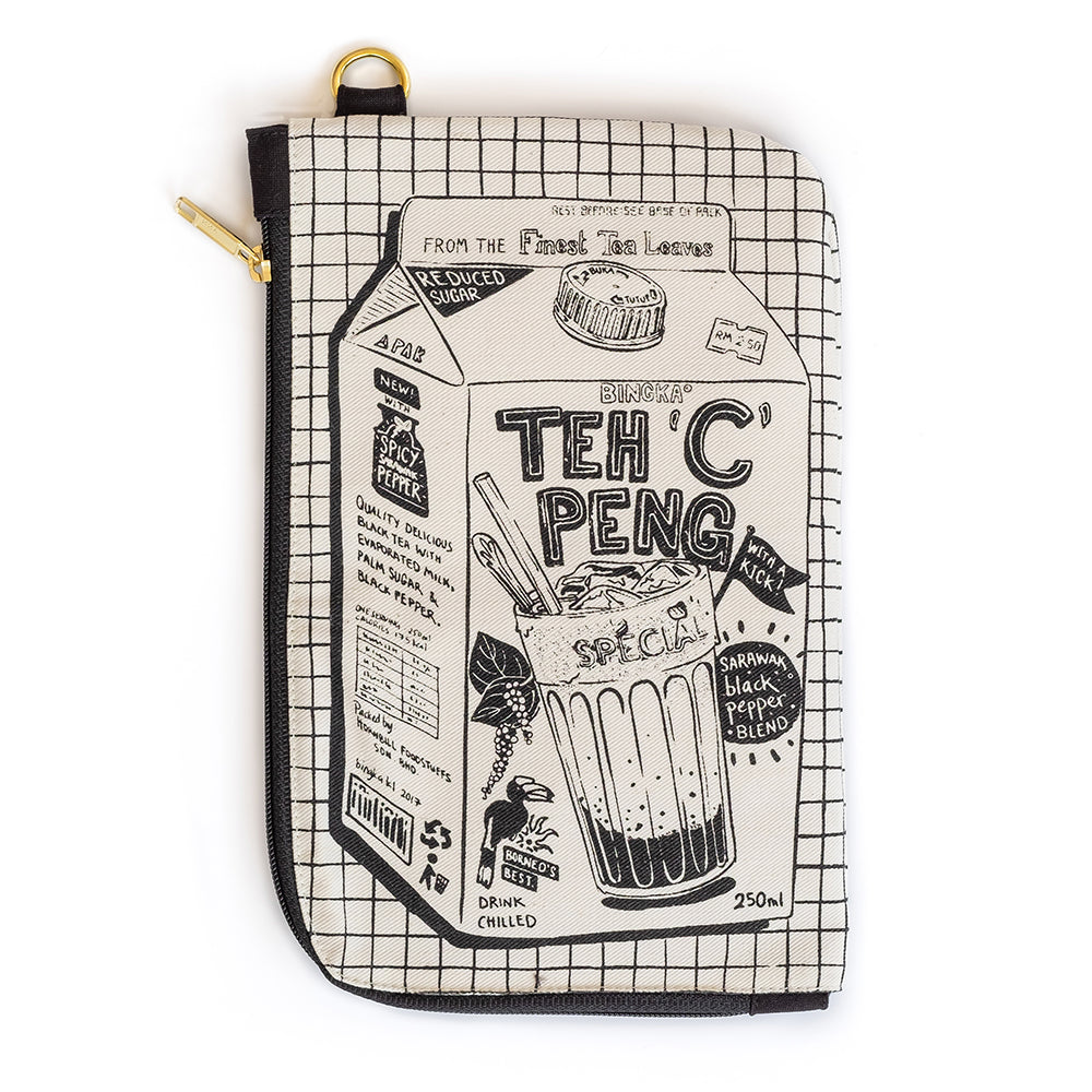 Teh C Peng Travel Pouch (black zipper)